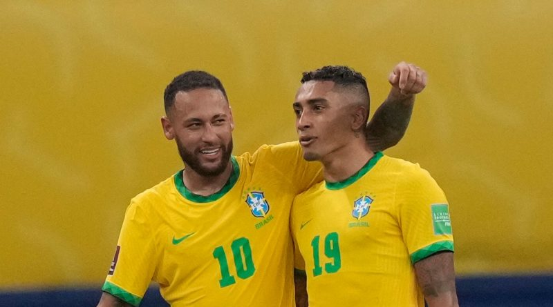 Leeds' Raphinha scores twice as Brazil thrash Uruguay; Lionel Messi subdued in Argentina win over Peru